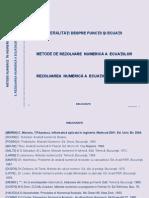 ECUATII METODE NUMERICE IN INGINERIE