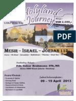Holy Land Journey - Perjalanan Ke Tanah Suci (Yerusalem - Betlehem, Dll)