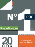 Plaquette Publicité 2013 Rayon Boissons