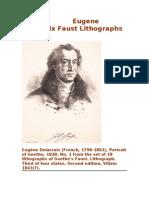 Eugene Delacroix Faust Lithographs