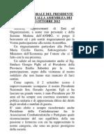RELAZIONE PRESIDENTE APPROVATA IN ASSEMBLEA 13 OTTOBRE 2012