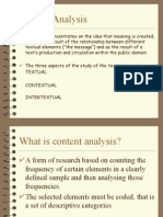 Textual and Content Analysis