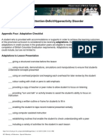 ADHD Teacher Checklist
