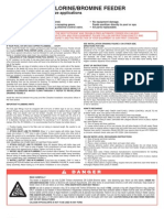 300-29X Rainbow Chlorine Feeder Manual