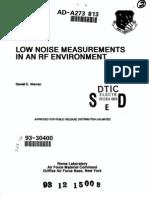 Low Noise Measurements In An RF Environment by Daniel E. Warren, Rome Laboratory, 08-1993.