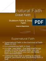 Supernatural Faith