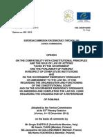 Raport Comisia de la Venetia