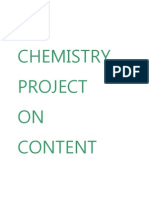 Chemistry Project on Content Of