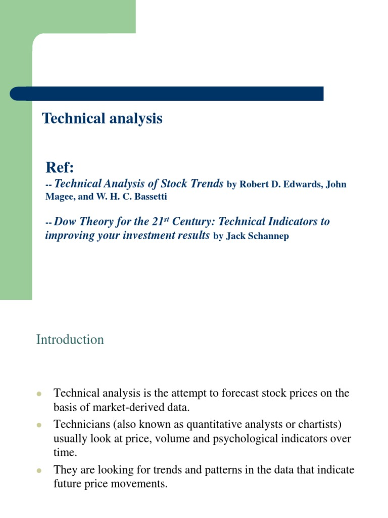 Security Analysis   Technical Analysis   Market Trend