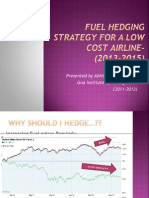 hedging in low cost airlines