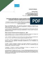 Be-Bound - Communiqué de presse - Lancement Officiel