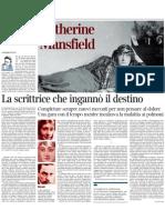 Pietro Citati Su Katherine Mansfield - Corriere Della Sera 17.12.2012