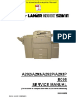 RICOH Aficio-551 Aficio-700 Aficio-1055 Service Manual Pages