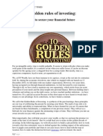 10 Golden Rules of Investing