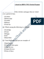 Computer Questions Based on IBPS CWE Clerical II Paper Held on Dec 15 2012