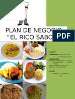 PLAN DE NEGOCIO EL RICO SABOR