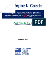 RPS Report Card How VA RPS Rewards Utilities Failing Performance