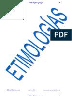 Diccionario etimológico griego
