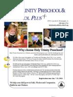 Preschool Brochure 2013-14
