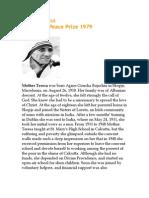 12-Mother Teresa Biographt
