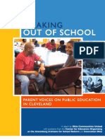 Speaking Out of School Parents Voices on Public Education in Cleveland