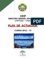 Plan de Actuacion Del Centro 2012-13
