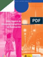 Guía técnica de eficiencia energética en iluminación. Alumbrado público