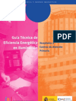 Guía técnica de eficiencia energética en iluminación. Hospitales y centros de atención primaria