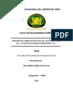 OBTENCIÓN DE COBRE ELECTROLÍTICO POR   ELECTRODEPOSICIÓN DEL   LIXIVIADO DE LA EMPRESA FERROQUÍMICA S.R.L