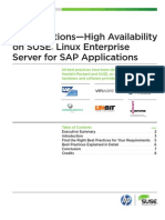 Sap Solutions High Availability on SLES for Sap Apps