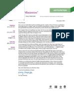 CJF Ministries December 2012 Newsletter