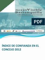 Índice de Confianza del Concejo de Barranquilla 2012