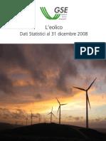 GSE L'Eolico - Dati Statistici Al 31 Dicembre 2008