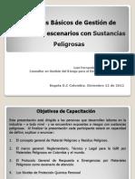12122012 Presentación Aspectos Básicos GdR Sustancias Peligrosas