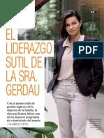 El liderazgo sutil de la Sra. Gerdau