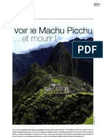 Voir le Machu Picchu