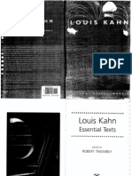 ESSENTIAL TEXTS LOUIS KAHN