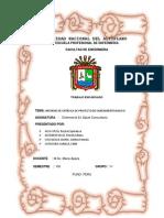 Informe de Entrega de Proyecto de Saneamiento Basico