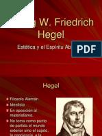 Hegel estetica y Espiritu