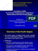 Sunhwa Lee - Investing in Skills in the Pacific