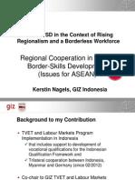 Kerstin Nagels - Regional Cooperation in Cross-Border-Skills Development