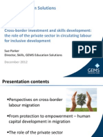 Sue Parker - Cross-Border Investment and Skills Developmentl