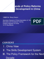 Wang Xiaojun - Skills Policy Framework for the Next Decade in PRC
