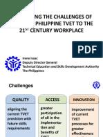 Irene Isaac - Addressing the Challenges of Bringing Philippine TVET