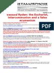 VASSULA RYDEN-THE EUCHARIST AND INTERCOMMUNION ONE DATE AND PAN-CHristian Ecuminism