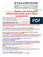 VASSULA RYDEN-THE EUCHARIST AND INTERCOMMUNION ONE DATE AND PAN-CHristian Ecuminism