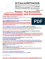 VASSULA RYDEN-THE EUCHARIST INTERCOMMUNION AND ECUMENISM