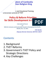 Oeun Tep - Policy and Reform for Skills Development in Cambodia