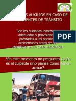 PRIMEROS AUXILIOS EN CASO DE ACCIDENTES DE TRÁNSITO