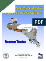 MANUAL CENTROAMERICANO  DE  DISPOSITIVOS UNIFORMES  PARA EL CONTROL DEL TRÁNSITO